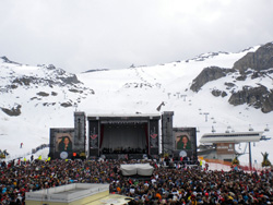 Top of the mountain Ischgl concert op de Idalp in ischgl