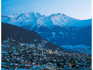 De dorpsfoto van Verbier 