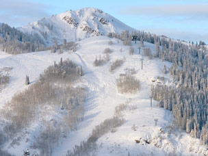 De dorpsfoto van Park City (©Deer Valley Resort)