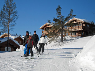 foto van skidorpen in Noorwegen