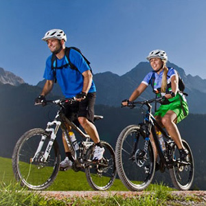 Mountainbiken in de Alpen